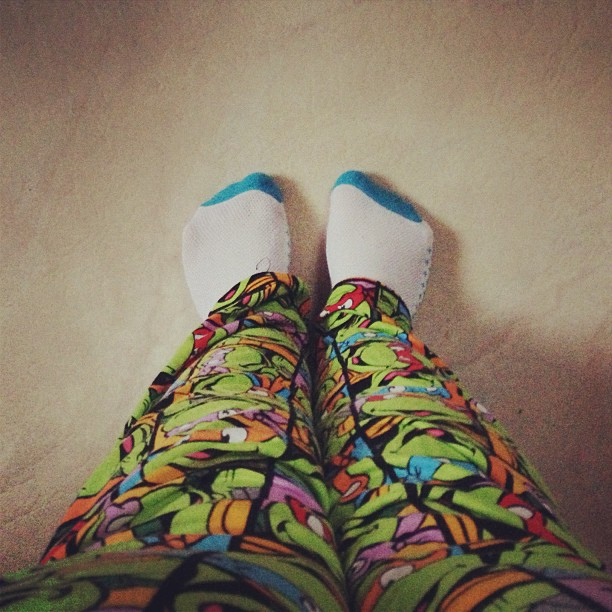 Last day of vacation = hanging out in my Ninja Turtle pants