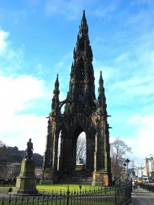 Scott Memorial in Edinburgh