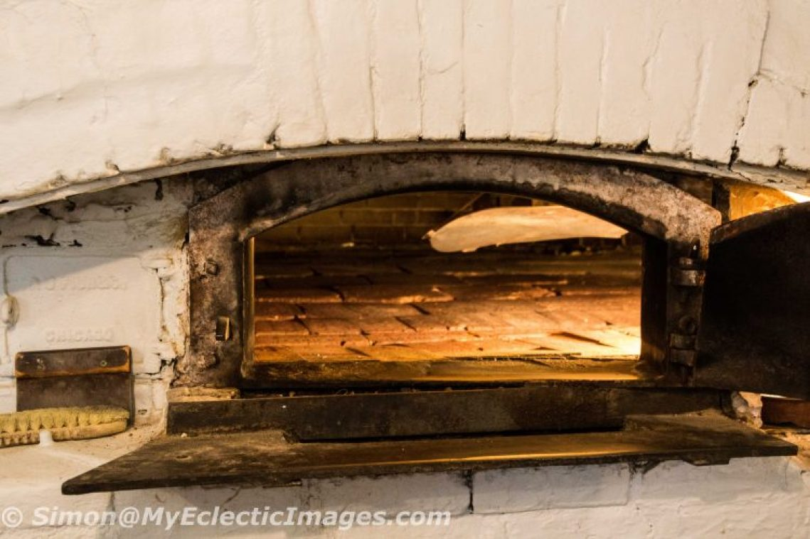 Looking Inside the Brick Oven at Hahn's Bakery