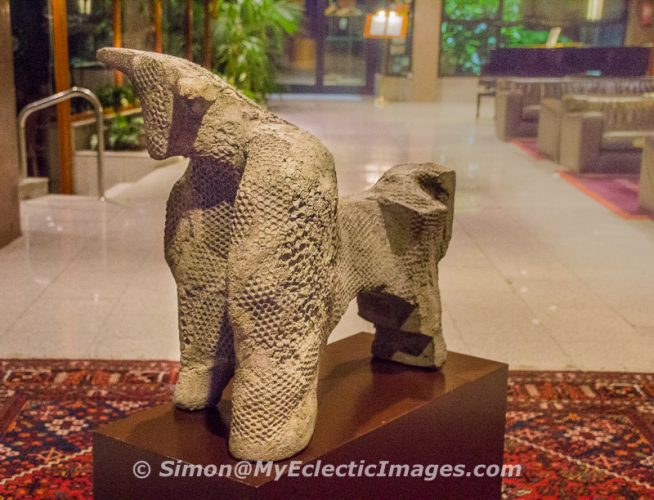 Sculpture in the Lobby of Hotel Carlemany