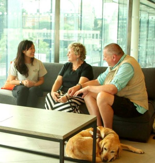 Fah interviewing us in Stockholm (photograph provided by Fah)