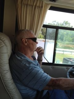 Floyd at the wheel (courtesy of Joan)
