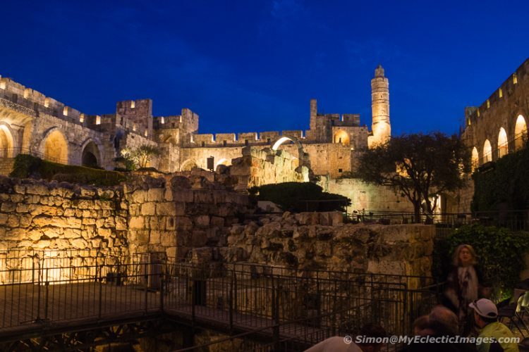 Night View of the Jerusalem Citadel (©simon@myeclecticimages.com)