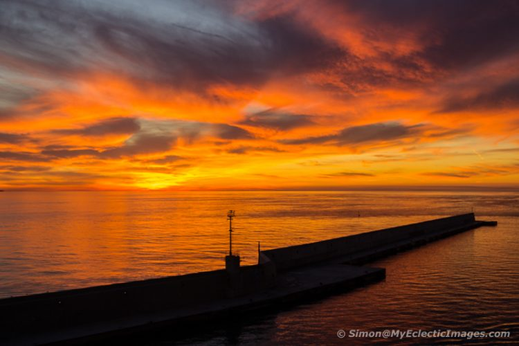 Sunset in Civitavecchia, Italy (©simon@myeclecticimages.com)