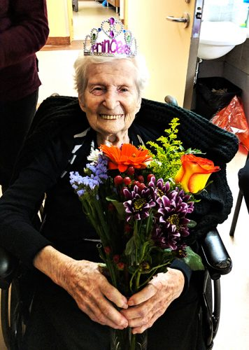 Rachel Zibula at 100 years old