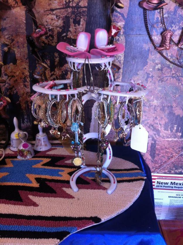 Horseshoe Jewelry Display
