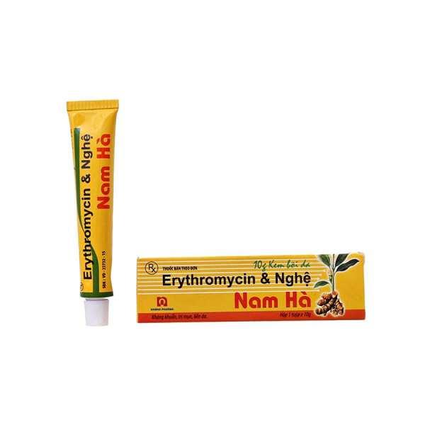 Erythromycin Tumeric Cream Nghe Nam Ha 10 gramm