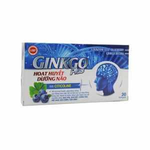 Ginkgo Plus 30 capsules - Ginko Biloba Vietnam