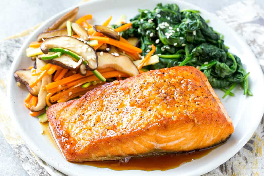 Salmon diet for stomach