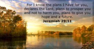 Jeremiah 29 v11