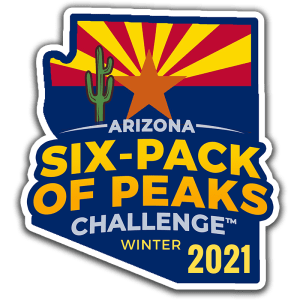 2021 Arizona Winter Six-Pack of Peaks Challenge logo