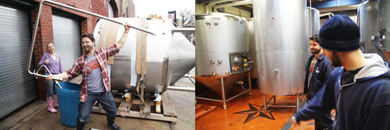 Fermenter delivery and Tank in Brewery