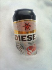 Disel in Snow