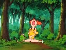 misty pikachu caterpie forest