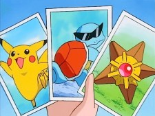 squirtle pikachu staryu cards