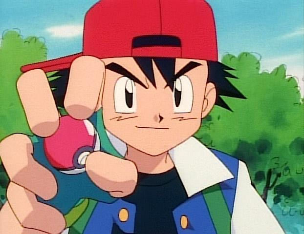 ash hat backwards pokeball