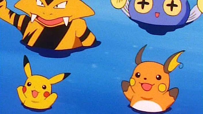pikachu raichu electabuzz chinchou water