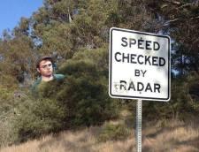 speed checked by radar