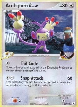 Ambipom G Rising Rivals RR 56 Pokemon Card
