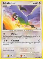 Chatot Majestic Dawn MD 55 Pokemon Card