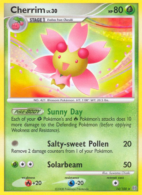 Cherrim Stormfront SF 14 Pokemon Card