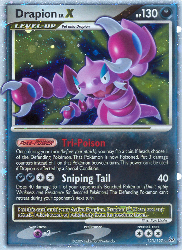 Drapion LV.X Platinum PL 123 Pokemon Card