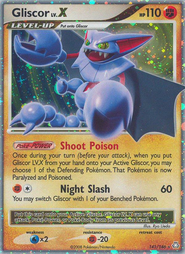Gliscor LV.X Legends Awakened LA 141 Pokemon Card