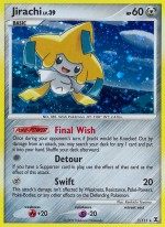 Jirachi Rising Rivals RR 7 Pokemon Card
