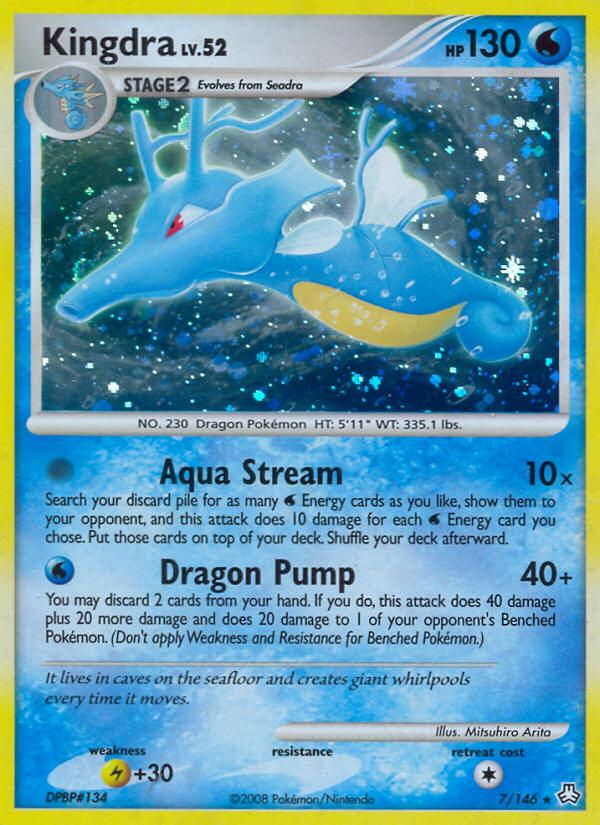 Kingdra Legends Awakened LA 7 Pokemon Card