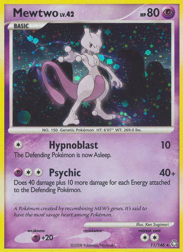 Mewtwo Legends Awakened LA 11 Pokemon Card