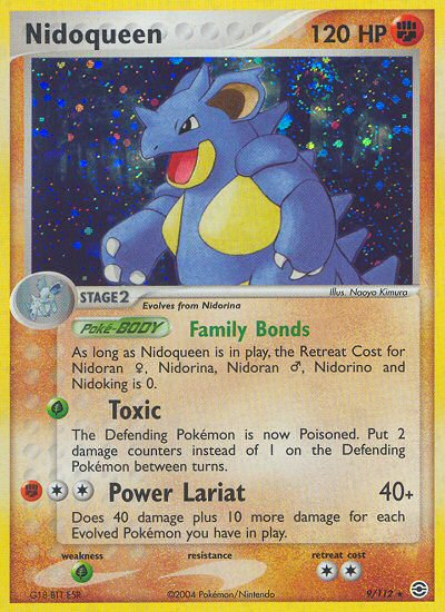 Nidoqueen Fire Red Leaf Green RG 9 Pokemon Card