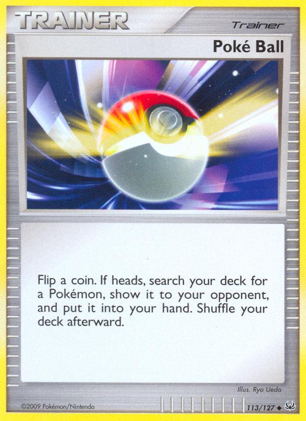 Poke Ball Platinum PL 113 Pokemon Card