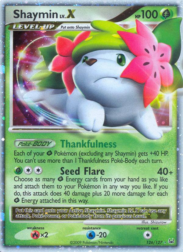 Shaymin Lv.X Platinum PL 126 Pokemon Card