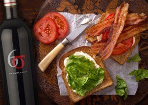 BLT and Wine from Six Sigma Ranch