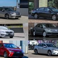 Comparison: Mazda 6 vs. Nissan Altima vs. Volkswagen Passat vs. Toyota Camry vs. Subaru Legacy vs. Hyundai Sonata