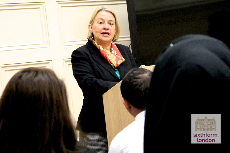 Natalie Bennett Speaks To Newham Collegiate Sixth Form Center (The NCS) Politics Students – In Video
