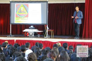 Simon Singh Delivers A Lecture On Fermat's Last Theorem To Newham Collegiate Sixth Form Centre Students