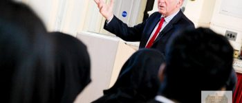 Sir Vince Cable Delivers A Speech To Newham Collegiate Sixth Form Students As Part Of The NCS Lecture Programme