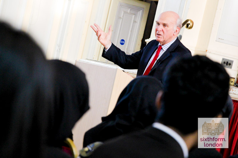 Sir Vince Cable Delivers A Lecture To Newham Collegiate Sixth Form Centre (The NCS) Students – In Video