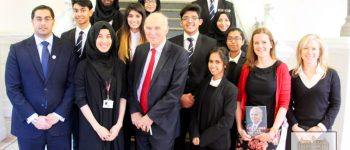 Sir Vince Cable With Students And Staff At Newham Collegiate Sixth Form Centre (The NCS)