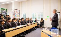 Metro Bank Founder Anthony Thomson Meets Newham Collegiate Sixth Form Centre As Part Of The NCS Lecture Programme