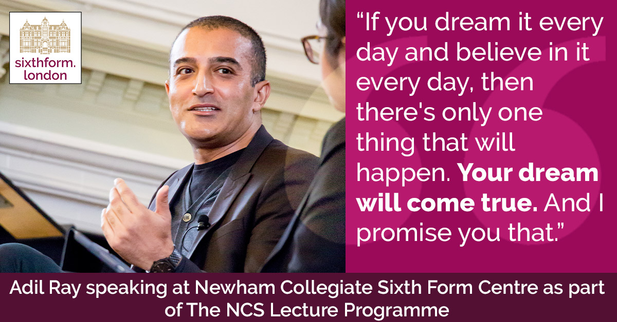 Quote by Broadcaster, Writer And Actor Adil Ray Visits Newham Collegiate Sixth Form Centre (The NCS) For A Student Led Interview