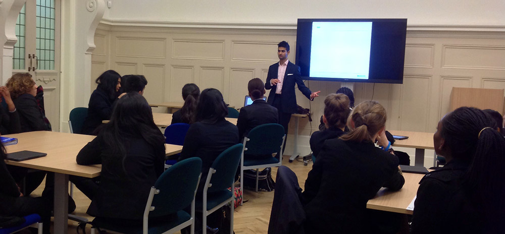 Barclays Give Careers Advice To Students At Newham Collegiate Sixth Form Centre (The NCS)