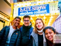 Exploring New York on our Ivy League Trip - Students outside the Late Show with Stephen Colbert