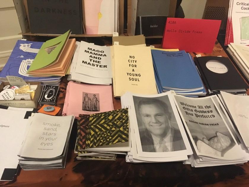 Walls Divide Press items at the Chicago Art Book Fair.