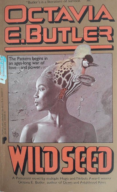 Image: Book cover of Octavia Butler's Wild Seed.