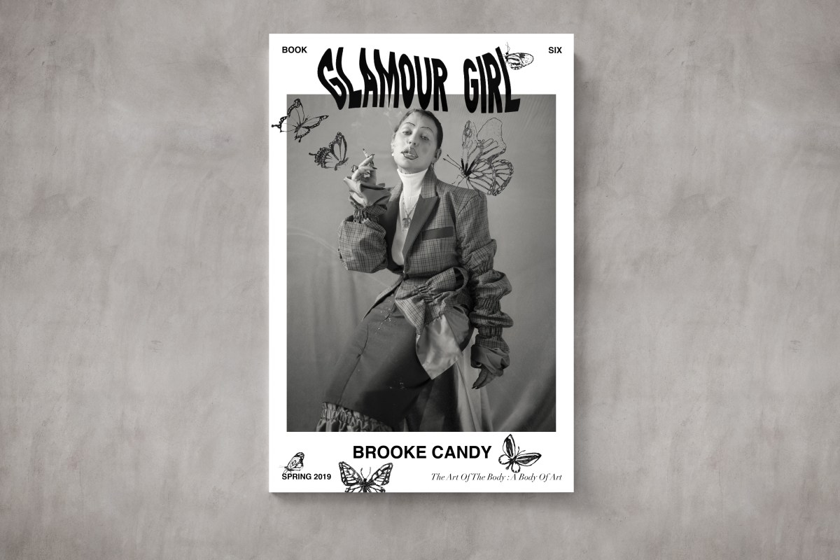 The sixth edition of Glamour Girl magazine features cover girl Brooke Candy