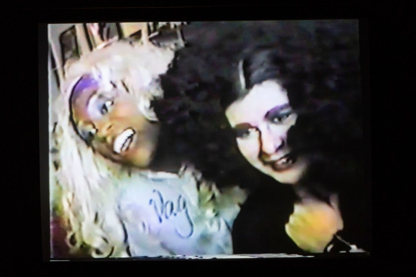 Image: Film still from That Fertile Feeling featuring Vaginal Davis (left) and Fertile La Toyah Jackson (right) (1982, dirs. John O'Shea and Keith Holland). Photo courtesy of the School of the Art Institute of Chicago.