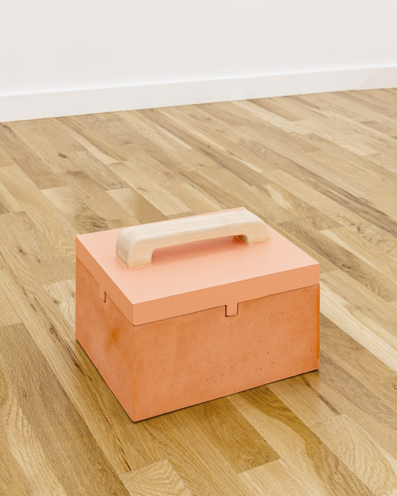 """Image: Gordon Hall's """"Closed Box with Painted Top"""" (2019), courtesy  Document Gallery."""