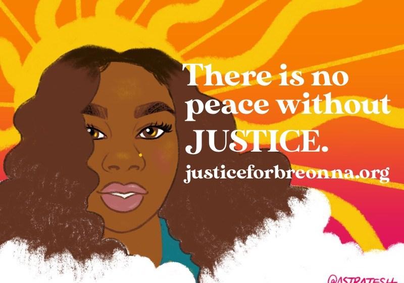 Image: An illustration by Teshika Silver of Breonna Taylor.